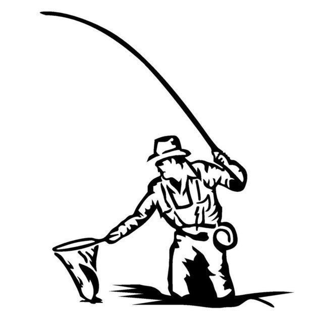 Man Fishing Drawing
