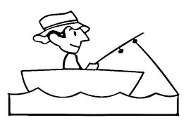 264x191 Image Result For Clipart Line Drawing Man Fishing In Boat Car