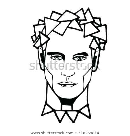 450x470 Abstract Designs Drawing Man Portrait Face Drawings Art Arts