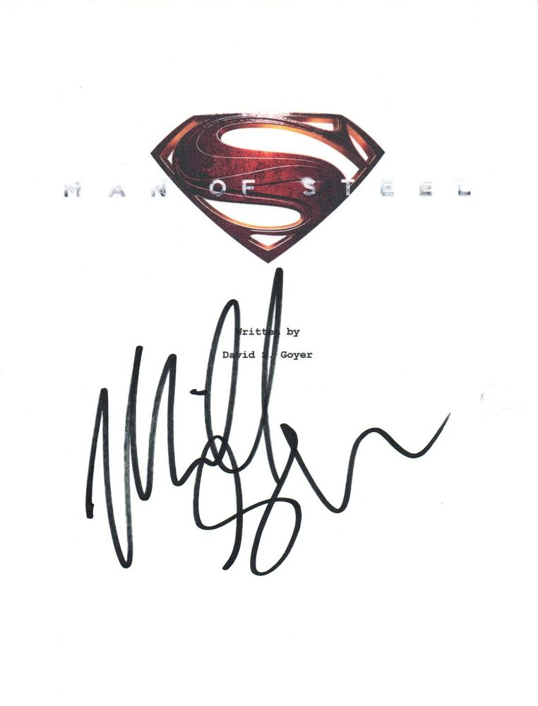762x1000 Michael Shannon Signed Autographed Superman Man Of Steel Movie