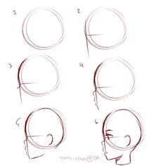 Man Side Face Drawing