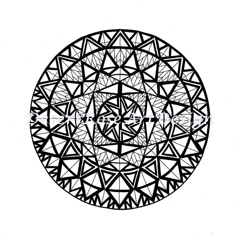 794x794 mandala drawing mandala art geometric mandala asymmetric etsy