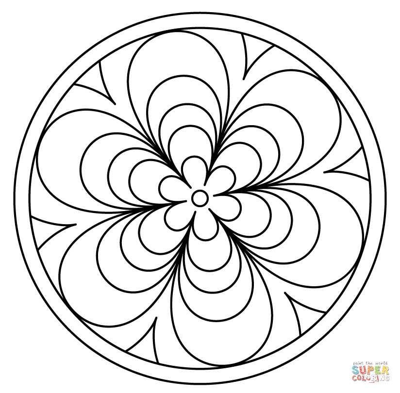 Mandala Drawing Easy | Free download best Mandala Drawing