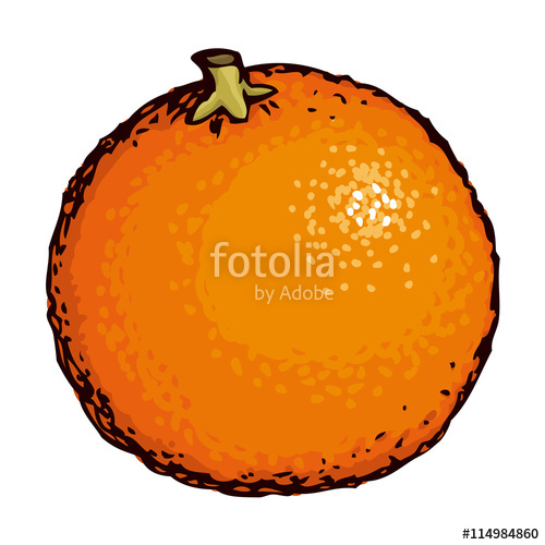 500x500 Orange Vector Drawing Stock Image And Royalty Free Vector