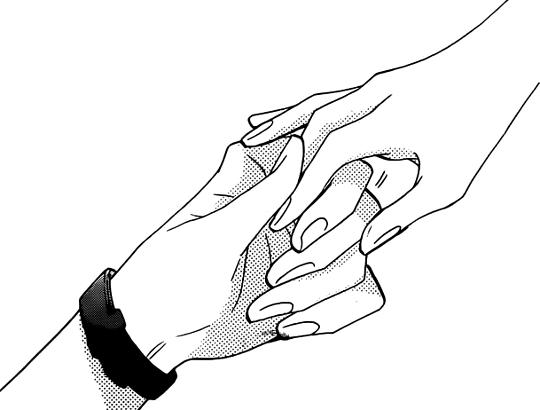 540x410 holding hands manga drawing manga in art, drawings, manga