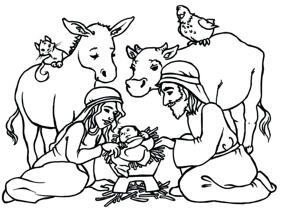 940x716 manger coloring sheet manger coloring