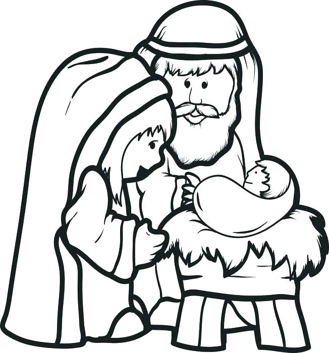 652x700 nativity scene coloring sheets printable nativity scene