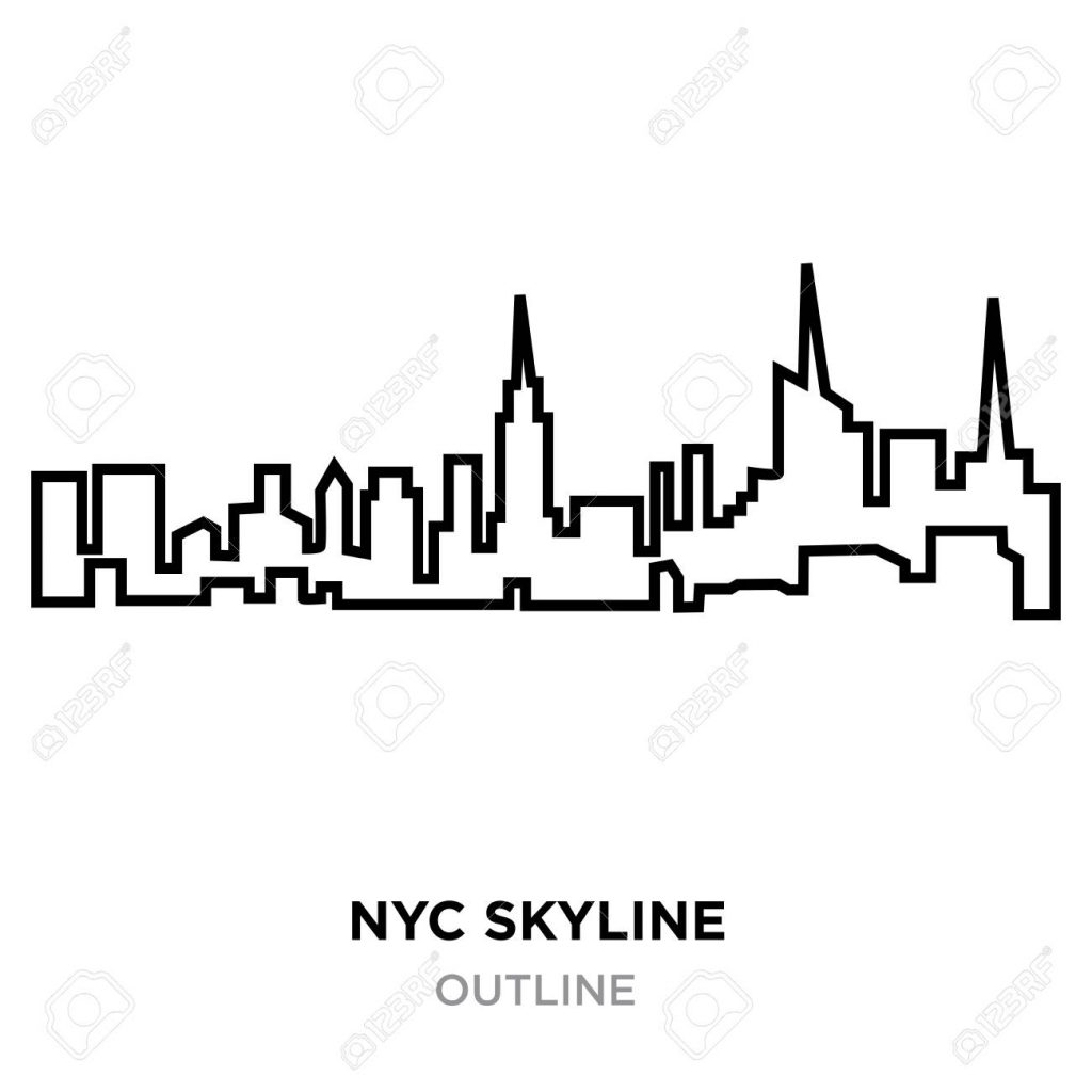 1024x1024 Coloring Pages Free Black And White Background Nyc Skyline