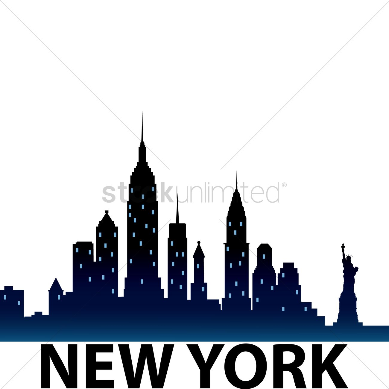 1300x1300 Huge Collection Of 'new York Buildings Silhouette' Download More