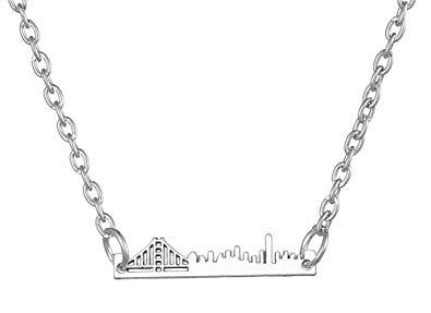 395x287 Likgreat New York City Manhattan Bridge Skyline Pendant Necklace
