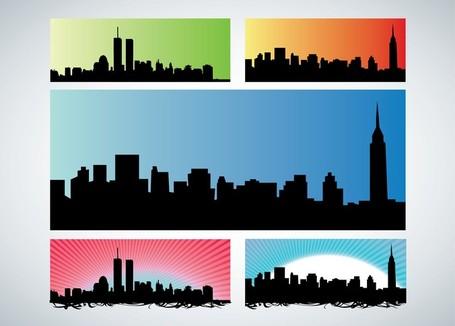 455x326 Manhattan Skyline Clipart