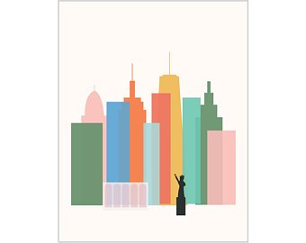 340x270 New York City Print Etsy