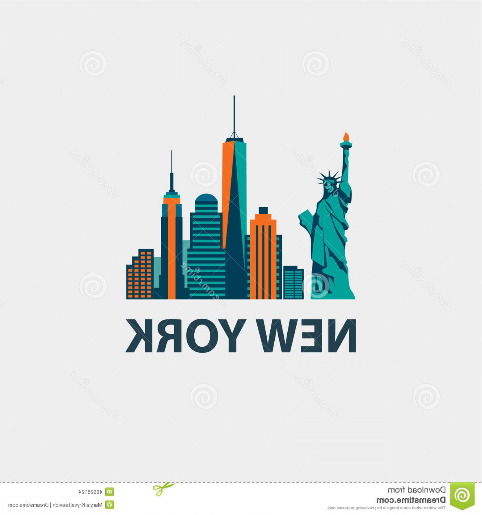 1560x1668 Stock Illustration New York City Architecture Retro Vector