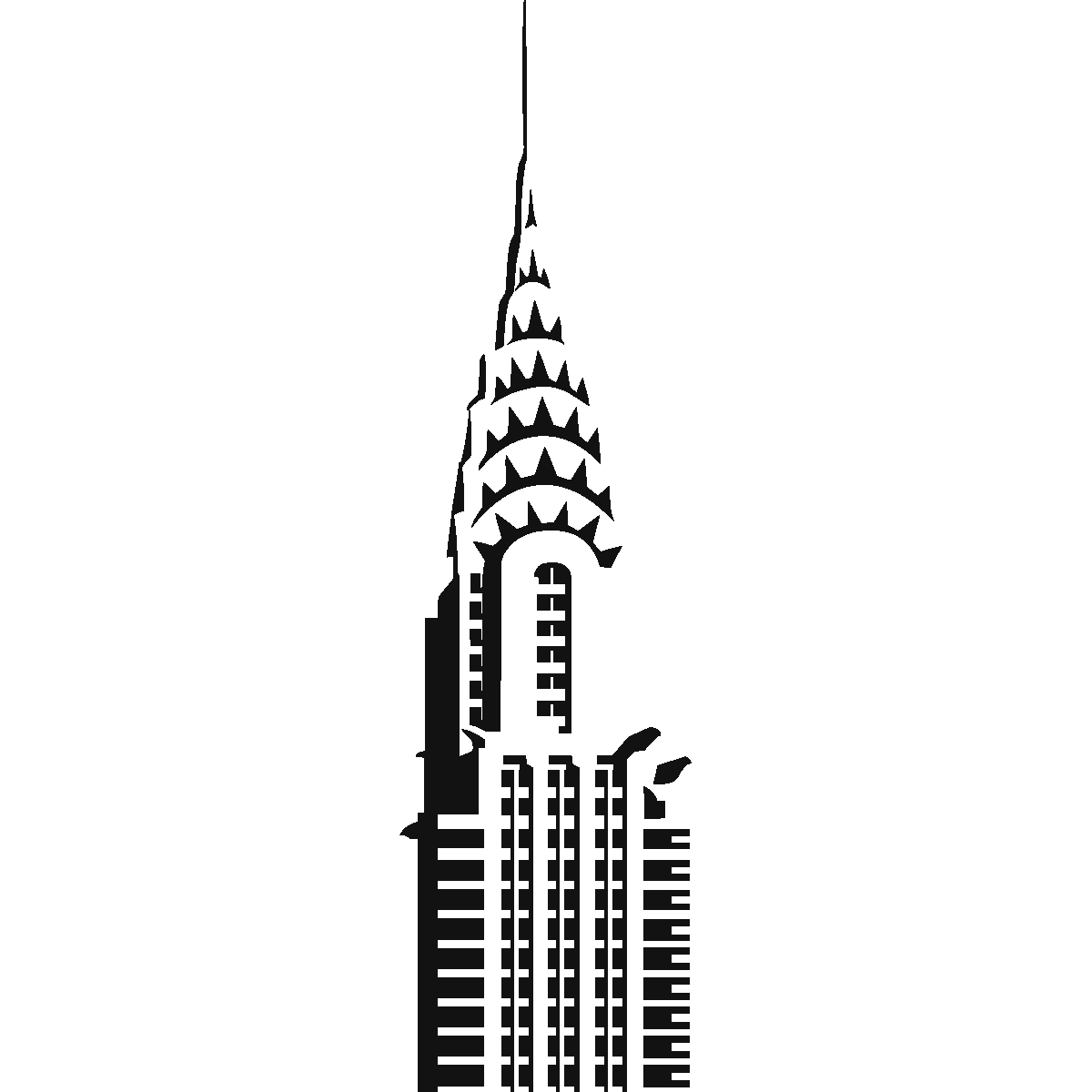 1200x1200 Chrysler Building Drawing