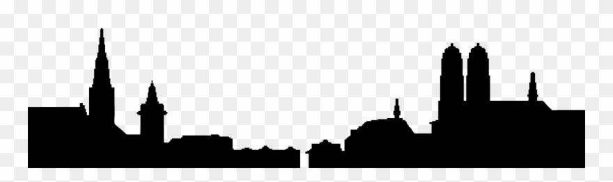 880x262 Manhattan Skyline Silhouette Clip Art