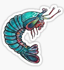 210x230 Mantis Shrimp Drawing Stickers Redbubble