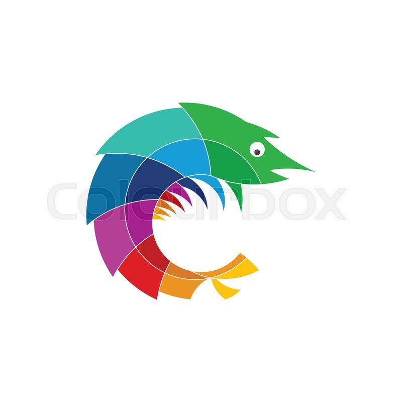 800x800 Mantis Shrimp Logo Stylized Icon Stock Vector Colourbox