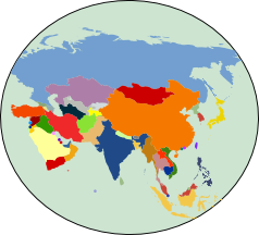 Map Of Asia Drawing