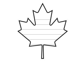 350x263 Maple Leaf Writing Paper Leaf Writing Template Fall Leaf Template