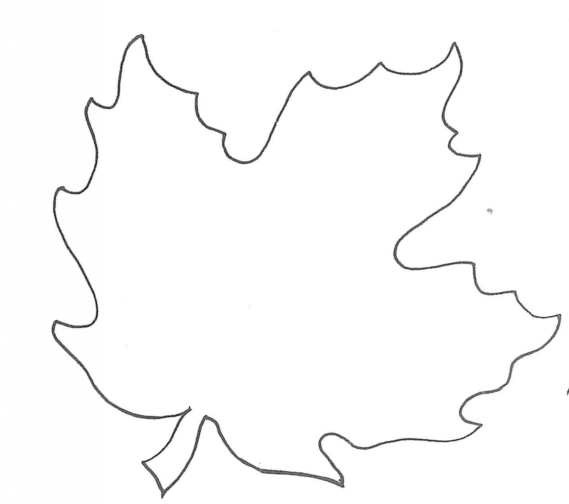 1920x1700 Awful Leaf Template With Lines Ideas Maple Blank Printable Free