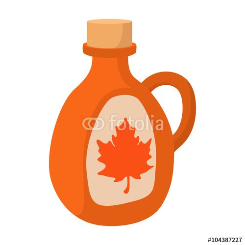 500x500 Drawing Maple Syrup Jug