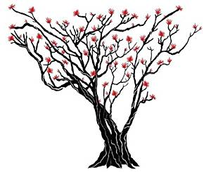 300x245 Buy Japanese Maple Tree Wall Sticker Inches X Online
