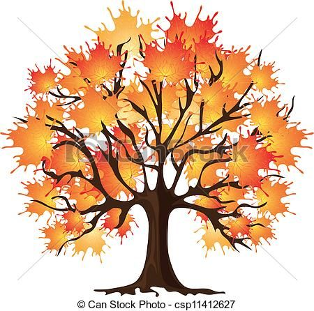 450x446 Clip Art Of Art Autumn Tree Maple