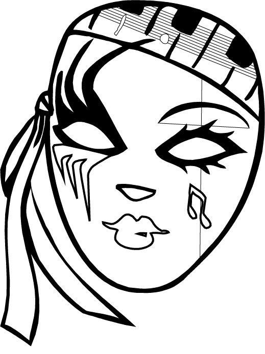 519x695 mardi gras mask colorign pages mardi gras mardi gras, carnival