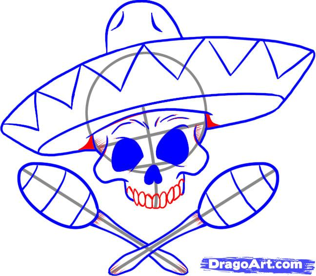 648x566 How To Draw A Sombrero, Step