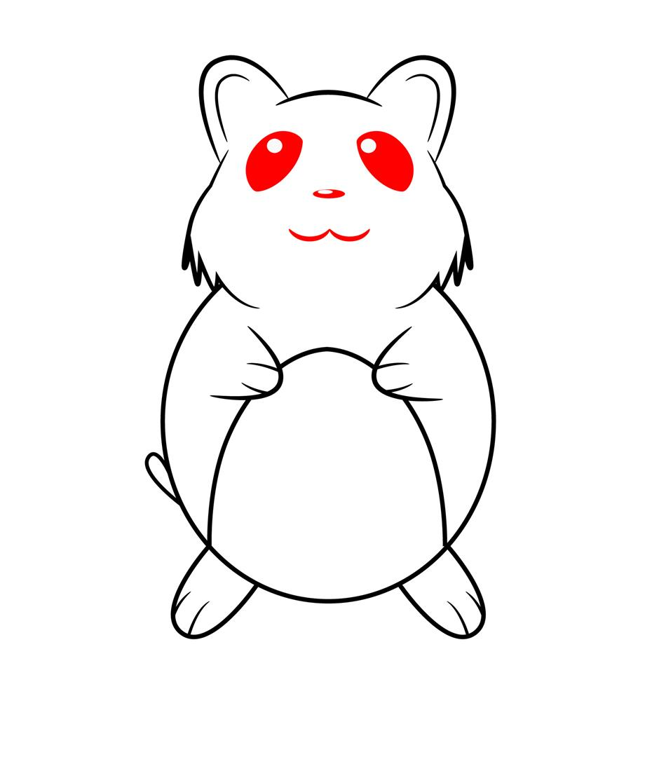 940x1080 Huge Collection Of 'easy Hamster Drawing' Download More Than
