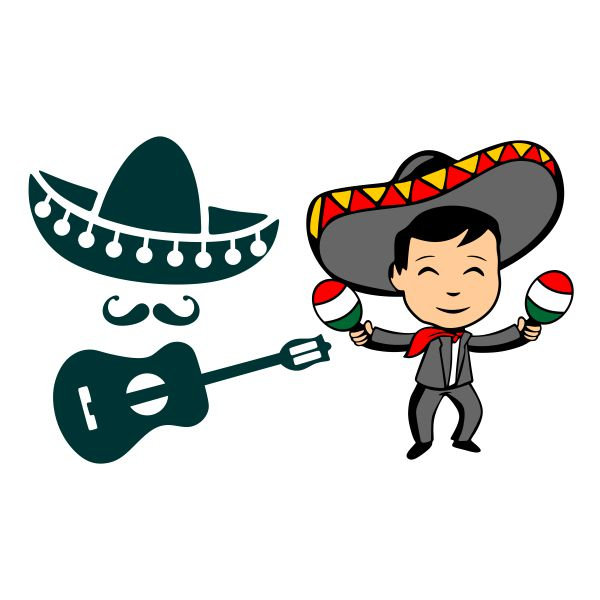 600x600 Mariachi Band Mexico Mexican Hat Cuttable Design Png Dxf Etsy