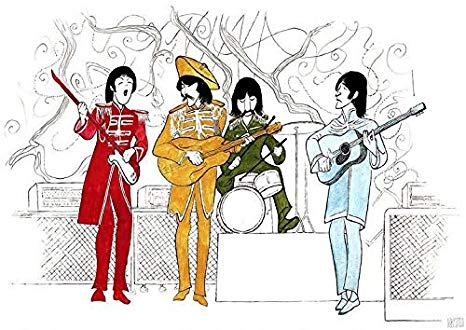 466x330 Al Hirschfeld's The Beatles Sgt Pepper's Lonely Hearts Club Band