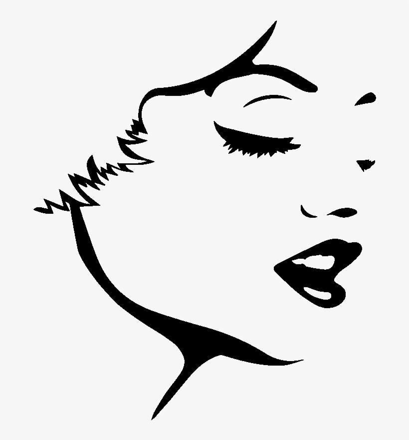 820x881 sticker marilyn monroe visage ambiance sticker kc