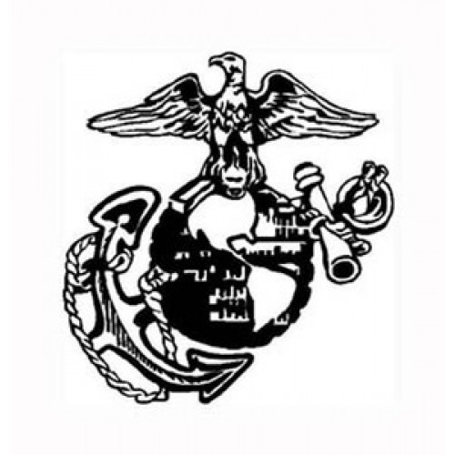 500x500 Marine Corps Sign Vinyl Sticker Decal