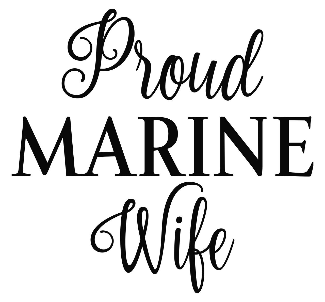 1280x1189 Proud Marine Wife X Vinyl Decal Sticker