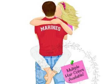 340x270 Us Marine Drawing Etsy