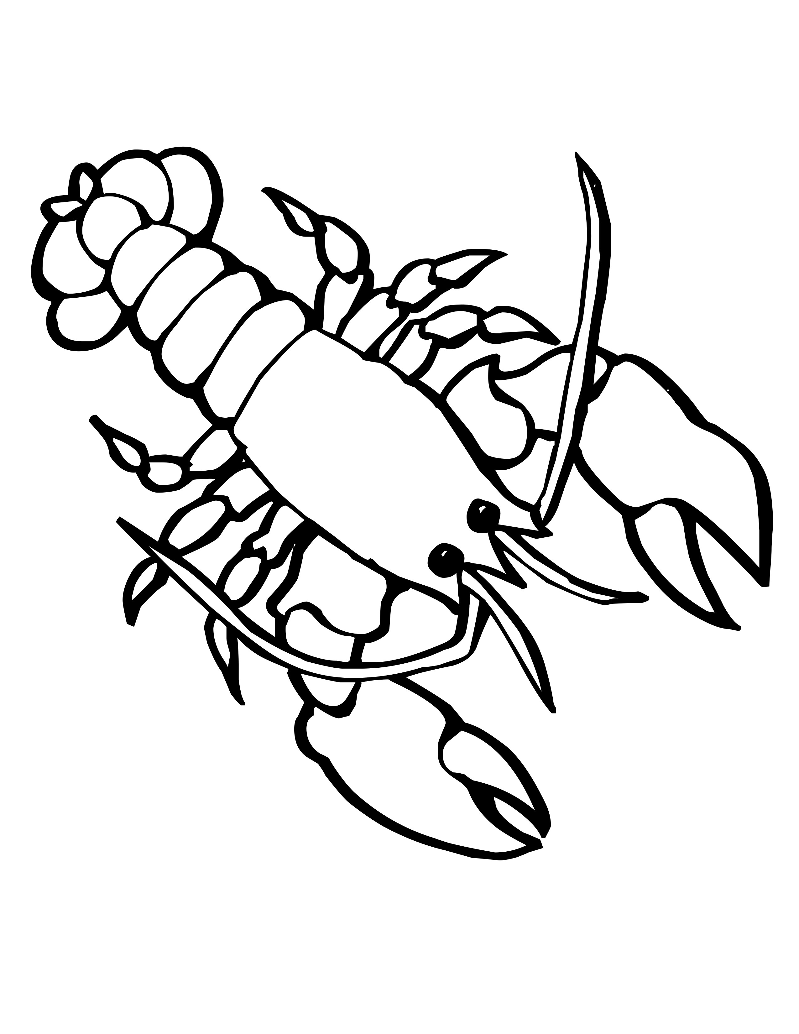 2550x3300 free coloring pages of marine animals drawing marine life