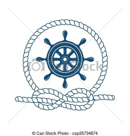 450x470 marine symbol nautical design elements nautical badge with helm