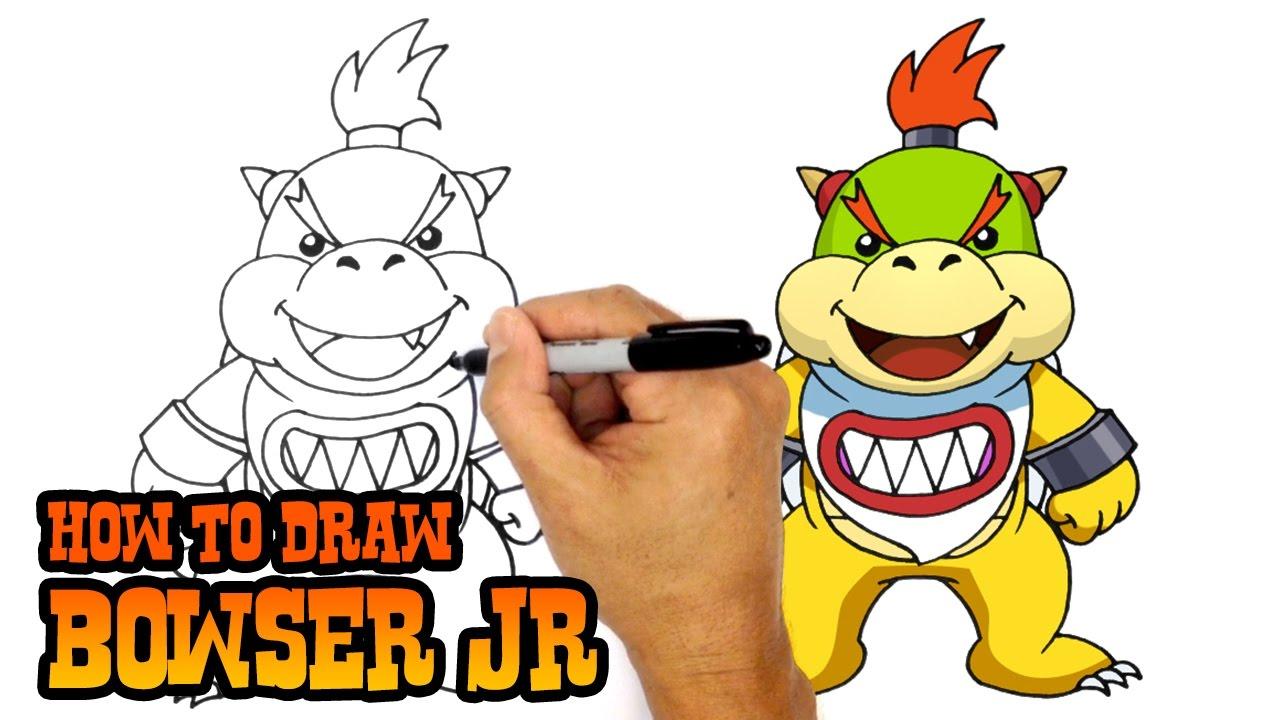 1280x720 How To Draw Bowser Jr Super Mario Bros