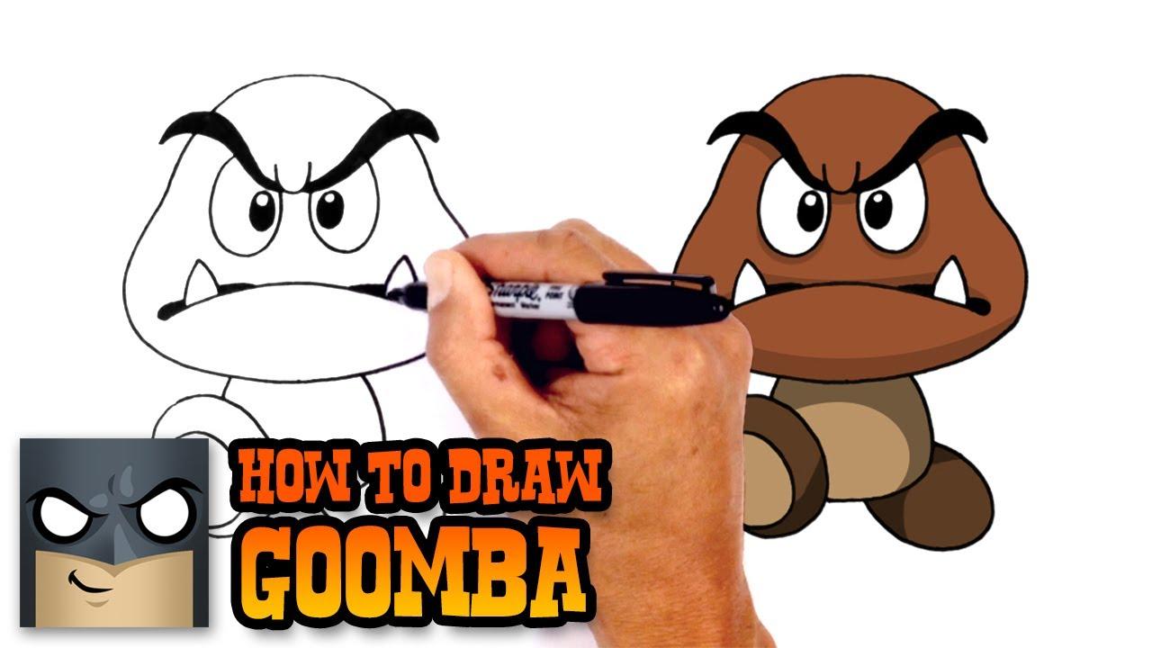 1280x720 How To Draw Goomba Super Mario Bros