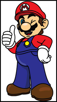200x355 How To Draw Super Mario Bros Characters Mario, Luigi, Bowser