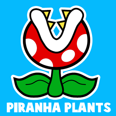 400x400 How To Draw A Pirahna Plant From Paper Mario With Easy Step