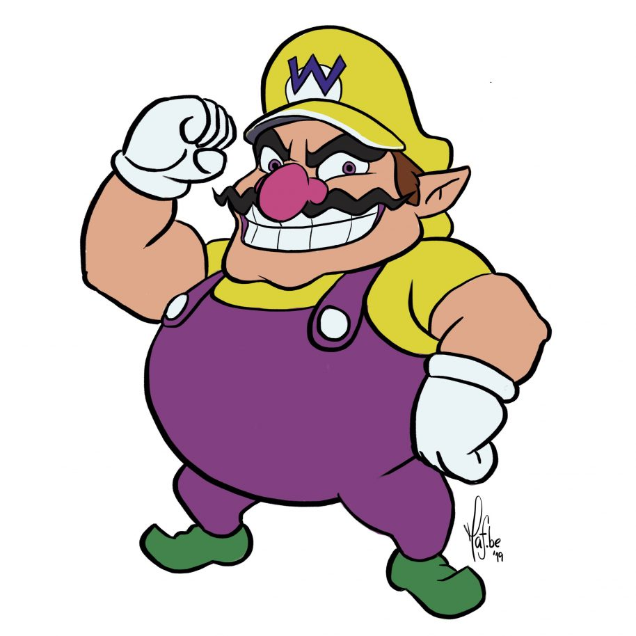 914x914 Learn To Draw Wario From Mario Bros In Easy Steps