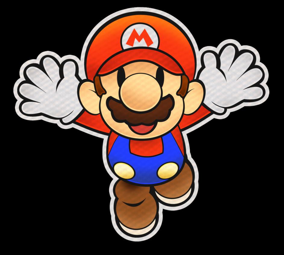 943x848 Paper Mario Color Splash Style