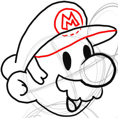 400x401 Step Drawing Classic Mario Bros Or Paper Mario Instructions