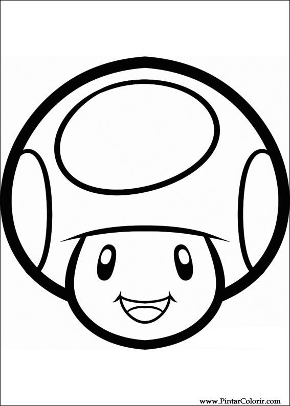 567x794 Drawings To Paint Colour Super Mario Bros