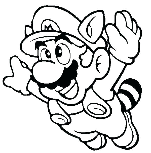 600x610 Free Coloring Pages Mario Colouring Pages Free Colouring Pages