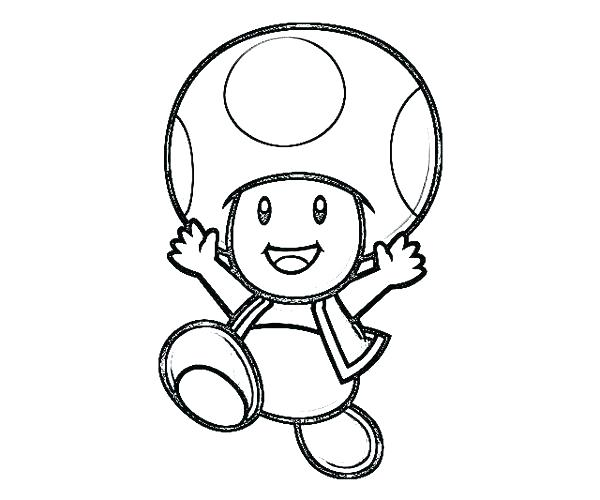 600x500 mario toad coloring pages paper toad coloring pages super bros