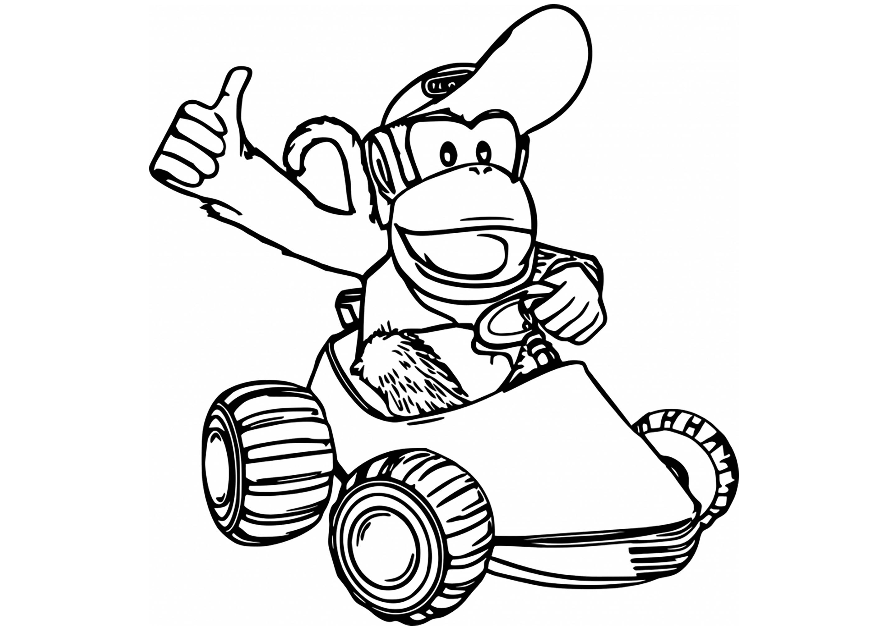 Mario Kart Drawing Free Download On Clipartmag
