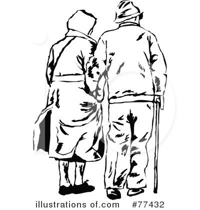 400x420 Old Married Couple Clipart
